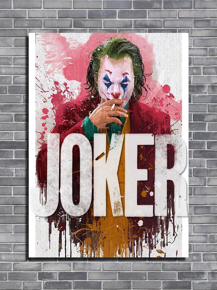 2010's Movie - JOKER Ink Art canvas print - self adhesive poster - photo print