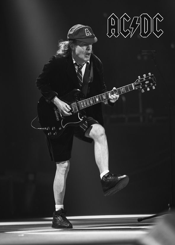 Acdc Angus Young Guitar Logo Canvas Print Self