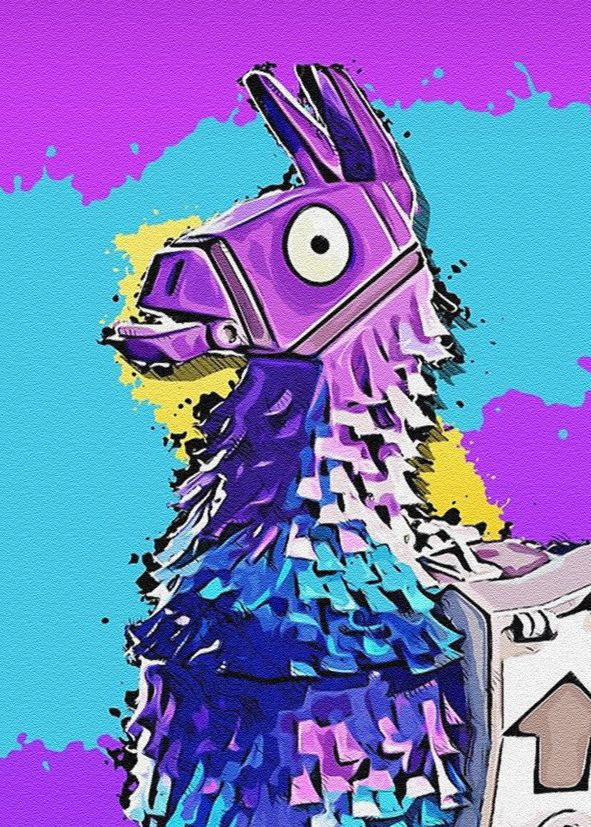 Games Fortnite Llama Sandstone Canvas Print Self