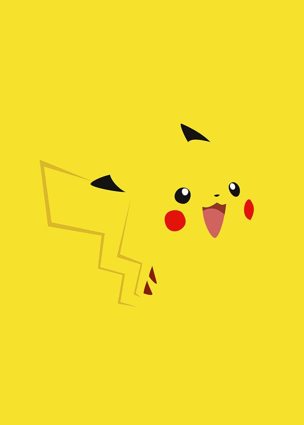 GAMES - PIKACHU MINIMAL canvas print - self adhesive poster - photo print