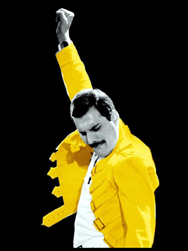 Queen Freddie Mercury Yellow Jacket Canvas Print