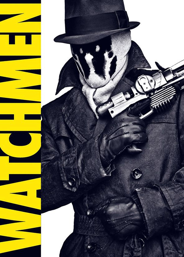watchmen rorschach poster style canvas print self adhesive