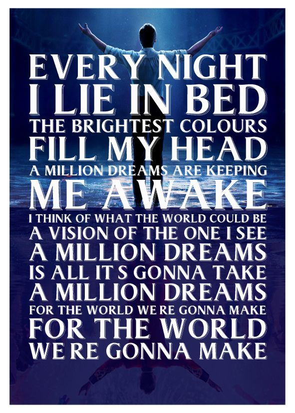 photograph relating to A Million Dreams Lyrics Printable named Most important Showman - a million wants lyric artwork canvas print - self adhesive poster - picture print