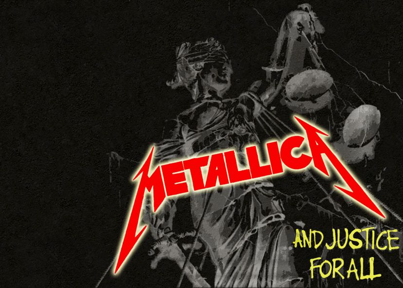 METALLICA - JUSTICE FOR ALL STYLE LOGO ART / canvas print - self adhesive poster - photo print