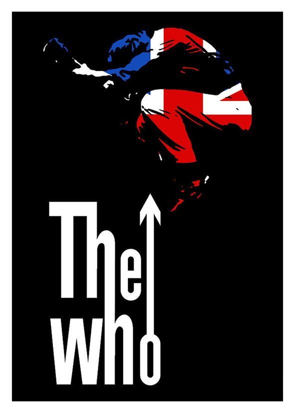 The Who Guitar Leap Uk Canvas Print Self Adhesive